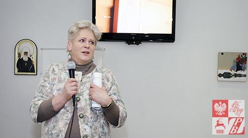 Natalia Łoś, białoruska ikonopisarka, uczestniczka warsztatów w Nowicy