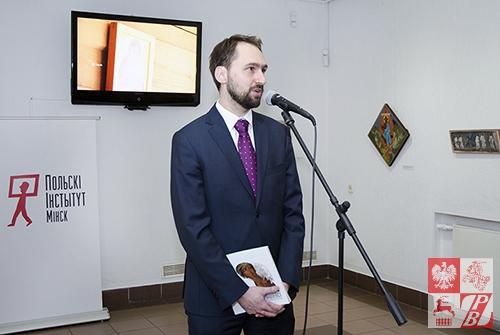 tomasz Adamski, dyrektor Instytutu Polskiego w Mińsku - współorganizującego wystawę