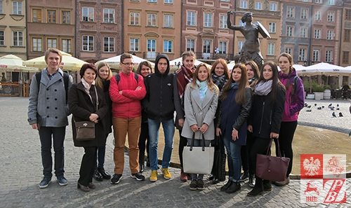 Podczas zwiedzania Warszawy