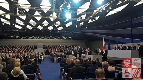 Prezydent RP Andrzej Duda wygłasza orędzie do Zgromadzenia Narodowego