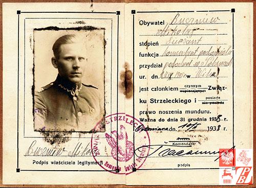 Mikolaj_Buczniew_legitymacja_Zwiazku_Strzeleckiego