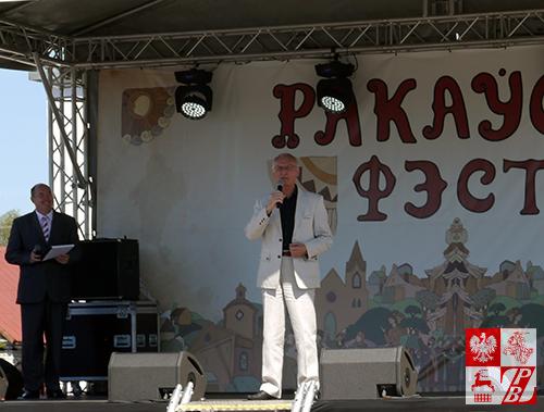 Przemawia białoruski minister kultury Borys Swietłow
